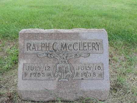 MCCLEERY, RALPH C. - Franklin County, Ohio   RALPH C. MCCLEERY - Ohio Gravestone Photos