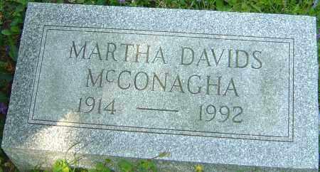 MCCONAGHA, MARTHA - Franklin County, Ohio | MARTHA MCCONAGHA - Ohio Gravestone Photos