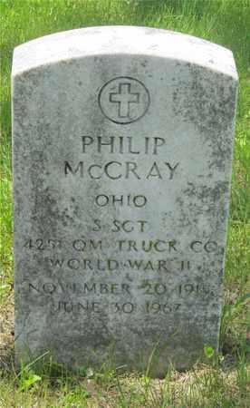 MCCRAY, PHILIP - Franklin County, Ohio   PHILIP MCCRAY - Ohio Gravestone Photos