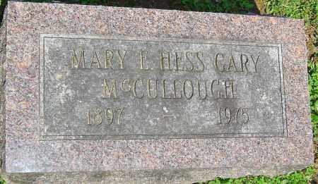 MCCULLOUGH, MARY - Franklin County, Ohio   MARY MCCULLOUGH - Ohio Gravestone Photos