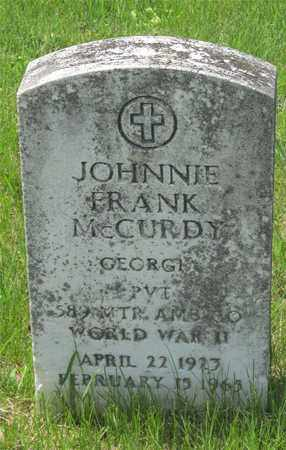 MCCURDY, JOHNNIE FRANK - Franklin County, Ohio   JOHNNIE FRANK MCCURDY - Ohio Gravestone Photos