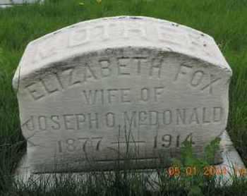 FOX MCDONALD, ELIZABETH - Franklin County, Ohio | ELIZABETH FOX MCDONALD - Ohio Gravestone Photos