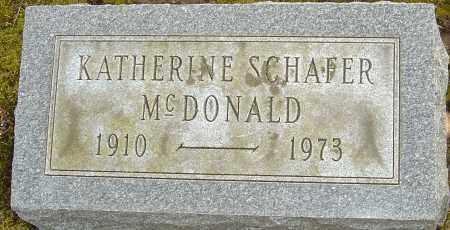 SCHAFER MCDONALD, KATHERINE - Franklin County, Ohio | KATHERINE SCHAFER MCDONALD - Ohio Gravestone Photos