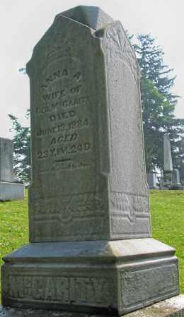 MCGARITY, ANNA - Franklin County, Ohio   ANNA MCGARITY - Ohio Gravestone Photos