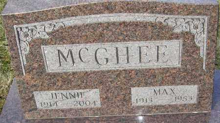 MCGHEE, JENNIE - Franklin County, Ohio | JENNIE MCGHEE - Ohio Gravestone Photos