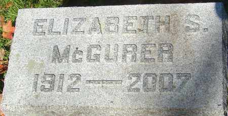 SCATTERDAY MCGURER, ELIZABETH - Franklin County, Ohio   ELIZABETH SCATTERDAY MCGURER - Ohio Gravestone Photos