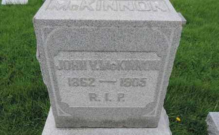 MCKINNON, JOHN V - Franklin County, Ohio | JOHN V MCKINNON - Ohio Gravestone Photos