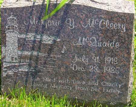 MCQUAIDE, MARJORIE Y - Franklin County, Ohio | MARJORIE Y MCQUAIDE - Ohio Gravestone Photos