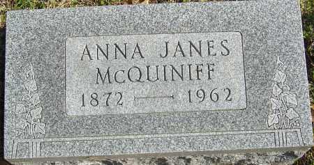 JANES MCQUINIFF, ANNA - Franklin County, Ohio   ANNA JANES MCQUINIFF - Ohio Gravestone Photos