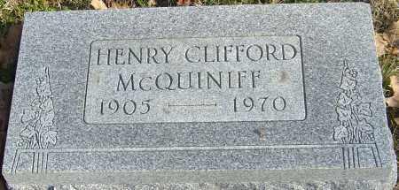 MCQUINIFF, HENRY CLIFFORD - Franklin County, Ohio | HENRY CLIFFORD MCQUINIFF - Ohio Gravestone Photos