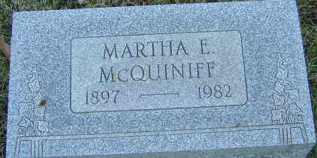MCQUINIFF, MARTHA E - Franklin County, Ohio | MARTHA E MCQUINIFF - Ohio Gravestone Photos