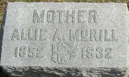 MCRILL, ALLIE ALITINA - Franklin County, Ohio | ALLIE ALITINA MCRILL - Ohio Gravestone Photos
