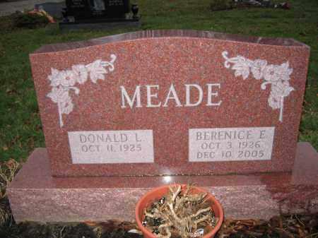 MEADE, BERNICE E. - Franklin County, Ohio | BERNICE E. MEADE - Ohio Gravestone Photos