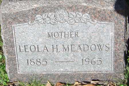 MEADOWS, LEOLA H - Franklin County, Ohio | LEOLA H MEADOWS - Ohio Gravestone Photos