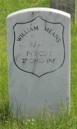 MEANS, WILLIAM - Franklin County, Ohio   WILLIAM MEANS - Ohio Gravestone Photos