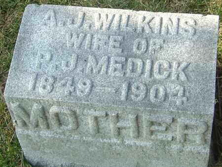 MEDICK, A J - Franklin County, Ohio | A J MEDICK - Ohio Gravestone Photos