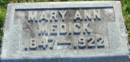 MEDICK, MARY ANN - Franklin County, Ohio   MARY ANN MEDICK - Ohio Gravestone Photos