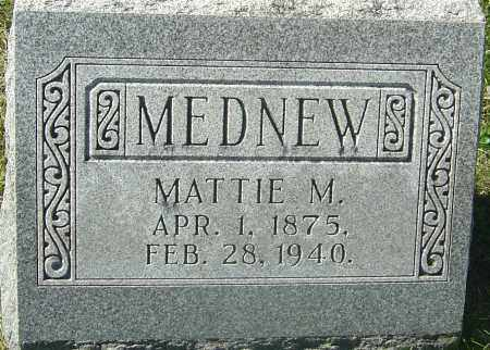 MEDNEW, MATTIE M - Franklin County, Ohio | MATTIE M MEDNEW - Ohio Gravestone Photos