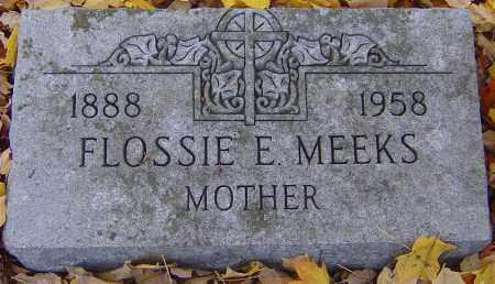 MEEKS, FLOSSIE E - Franklin County, Ohio   FLOSSIE E MEEKS - Ohio Gravestone Photos