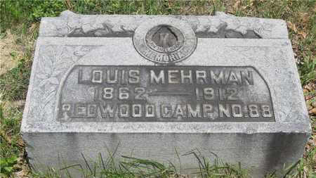 MEHRMAN, LOUIS - Franklin County, Ohio | LOUIS MEHRMAN - Ohio Gravestone Photos