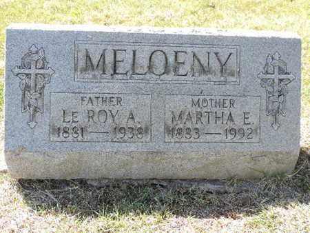 MELOENY, MARTHA E. - Franklin County, Ohio | MARTHA E. MELOENY - Ohio Gravestone Photos