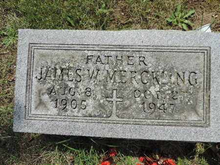 MERCKLING, JAMES W. - Franklin County, Ohio | JAMES W. MERCKLING - Ohio Gravestone Photos