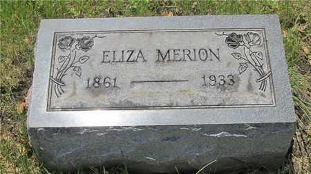 MERION, ELIZA - Franklin County, Ohio | ELIZA MERION - Ohio Gravestone Photos