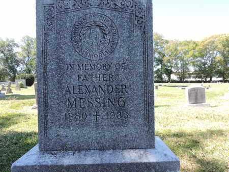 MESSING, ALEXANDER - Franklin County, Ohio   ALEXANDER MESSING - Ohio Gravestone Photos