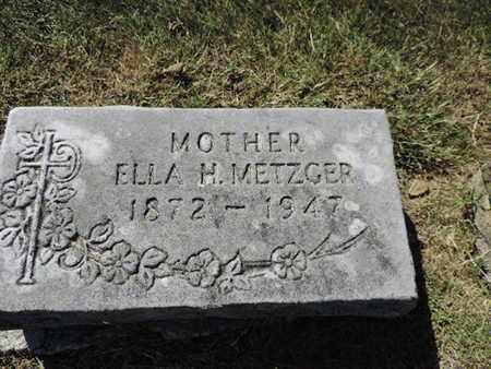 METZGER, ELLA H. - Franklin County, Ohio   ELLA H. METZGER - Ohio Gravestone Photos
