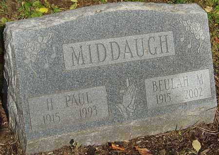 MIDDAUGH, HAROLD PAUL - Franklin County, Ohio | HAROLD PAUL MIDDAUGH - Ohio Gravestone Photos
