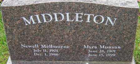 MUNYAN MIDDLETON, MYRA - Franklin County, Ohio   MYRA MUNYAN MIDDLETON - Ohio Gravestone Photos
