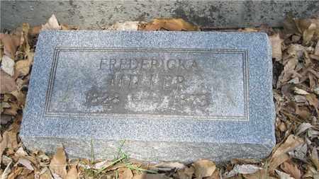 MILLER, FREDERICKA - Franklin County, Ohio | FREDERICKA MILLER - Ohio Gravestone Photos