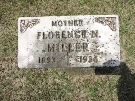 MILLER, FLORENCE M. - Franklin County, Ohio | FLORENCE M. MILLER - Ohio Gravestone Photos