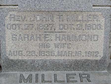 HAMMOND MILLER, SARAH E - Franklin County, Ohio   SARAH E HAMMOND MILLER - Ohio Gravestone Photos