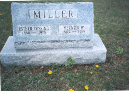 TUSSING MILLER, ESTHER - Franklin County, Ohio | ESTHER TUSSING MILLER - Ohio Gravestone Photos