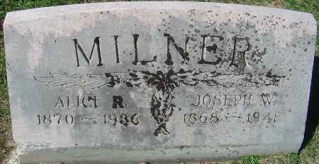 MILNER, JOSEPH W - Franklin County, Ohio | JOSEPH W MILNER - Ohio Gravestone Photos