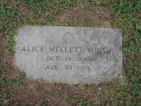 MINOR, ALICE - Franklin County, Ohio   ALICE MINOR - Ohio Gravestone Photos
