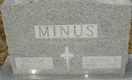 MINUS, CAROLYN D - Franklin County, Ohio   CAROLYN D MINUS - Ohio Gravestone Photos