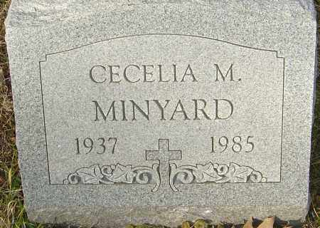 MINYARD, CECELIA M - Franklin County, Ohio | CECELIA M MINYARD - Ohio Gravestone Photos