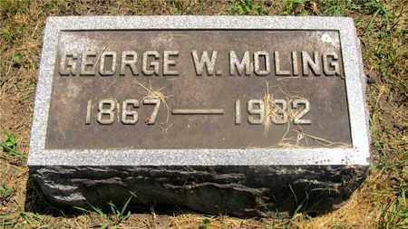 MOLING, GEORGE W. - Franklin County, Ohio | GEORGE W. MOLING - Ohio Gravestone Photos