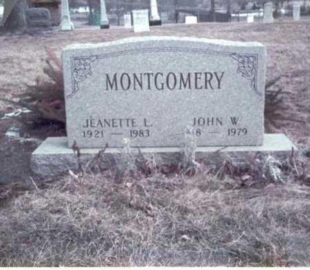 MONTGOMERY, JOHN W. - Franklin County, Ohio | JOHN W. MONTGOMERY - Ohio Gravestone Photos