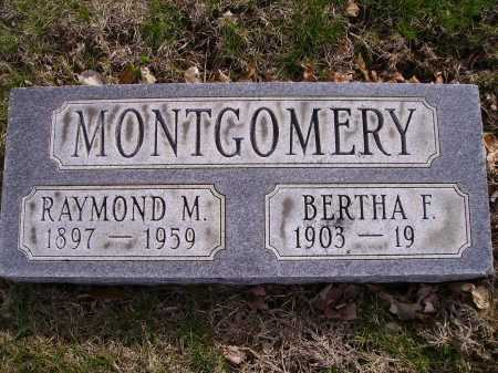 MONTGOMERY, BERTHA F. - Franklin County, Ohio | BERTHA F. MONTGOMERY - Ohio Gravestone Photos