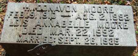 MOORE, LOIS ANNABELL - Franklin County, Ohio | LOIS ANNABELL MOORE - Ohio Gravestone Photos