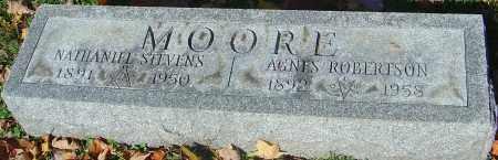 MOORE, NATHANIEL STEVENS - Franklin County, Ohio | NATHANIEL STEVENS MOORE - Ohio Gravestone Photos
