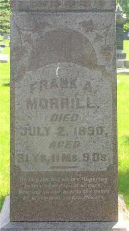 MORRILL, FRANK A. - Franklin County, Ohio   FRANK A. MORRILL - Ohio Gravestone Photos
