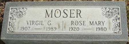 MOSER, VIRGIL G - Franklin County, Ohio | VIRGIL G MOSER - Ohio Gravestone Photos