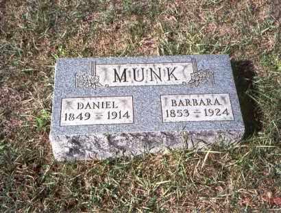MUNK, DANIEL - Franklin County, Ohio | DANIEL MUNK - Ohio Gravestone Photos
