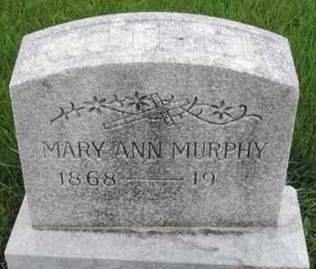 MURPHY, MARY ANN - Franklin County, Ohio | MARY ANN MURPHY - Ohio Gravestone Photos