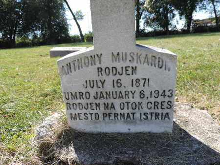 MUSKARD*, ANTHONY - Franklin County, Ohio | ANTHONY MUSKARD* - Ohio Gravestone Photos