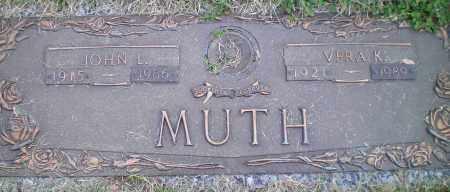 MUTH, JOHN - Franklin County, Ohio | JOHN MUTH - Ohio Gravestone Photos